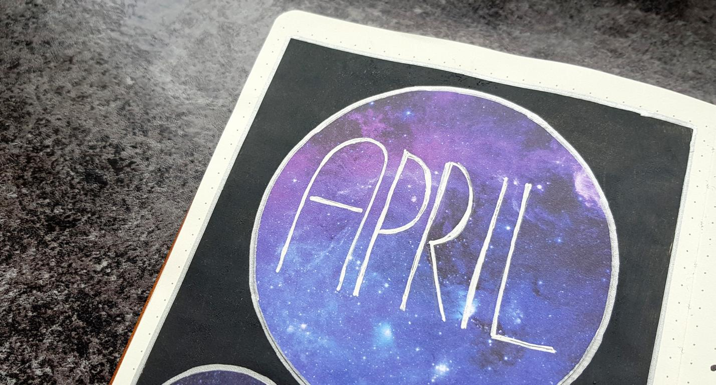 Bullet-Journal-April-Galaxy