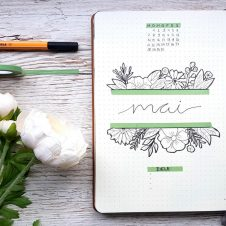 Bullet Journal Mai Blumen