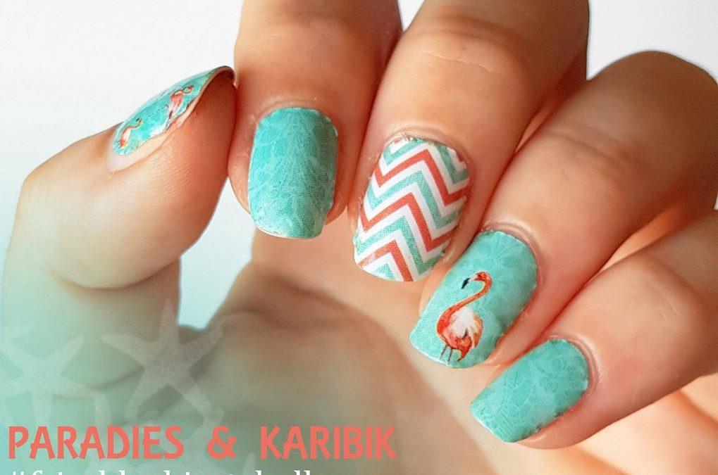 frischlackiertchallenge Paradies - Stickergigant Flamingo