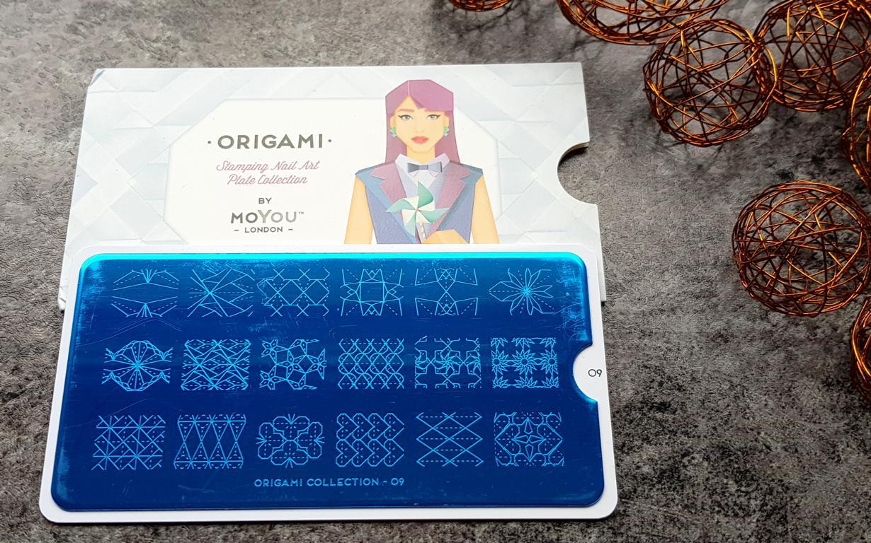 New In Moyou Stampingplatten Origami 09