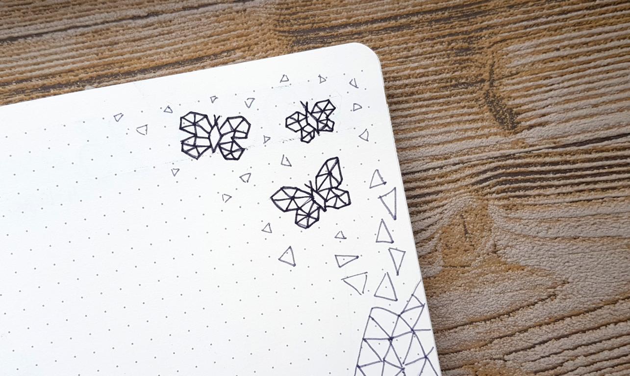 Bullet Journal Juni Geometrie