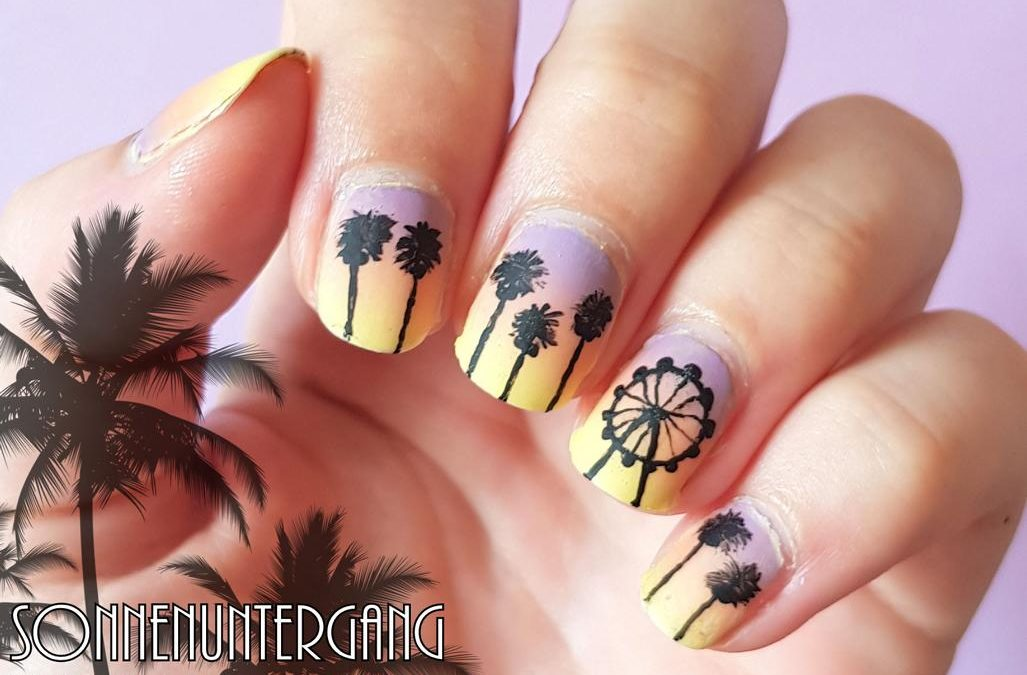 Sonnenuntergang Naildesign