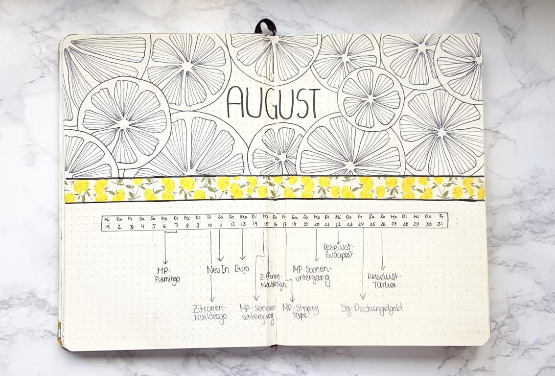 Bullet Journal Zitronen