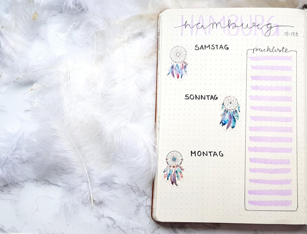 Bullet Journal Traumfänger