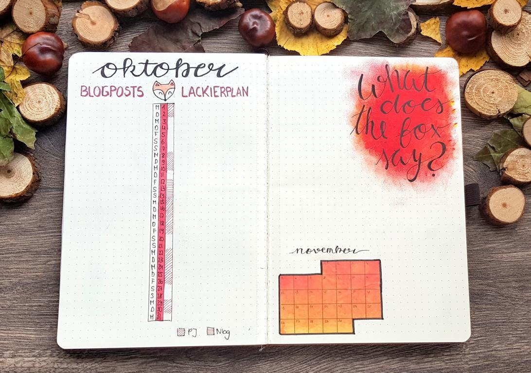 Oktober-Bullet Journal