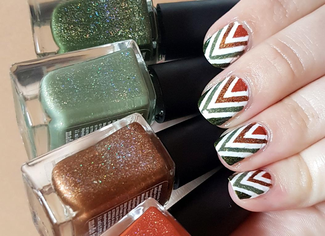 Chevron Nails mit Picture Polish