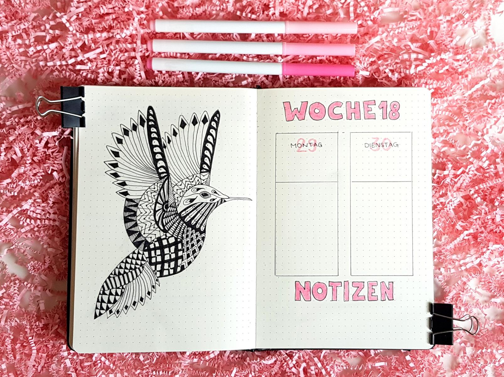 Bullet Journal April Kolibri Weekly Spread