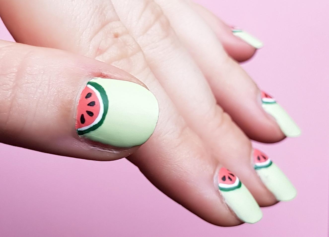 Wassermelonen Nailart