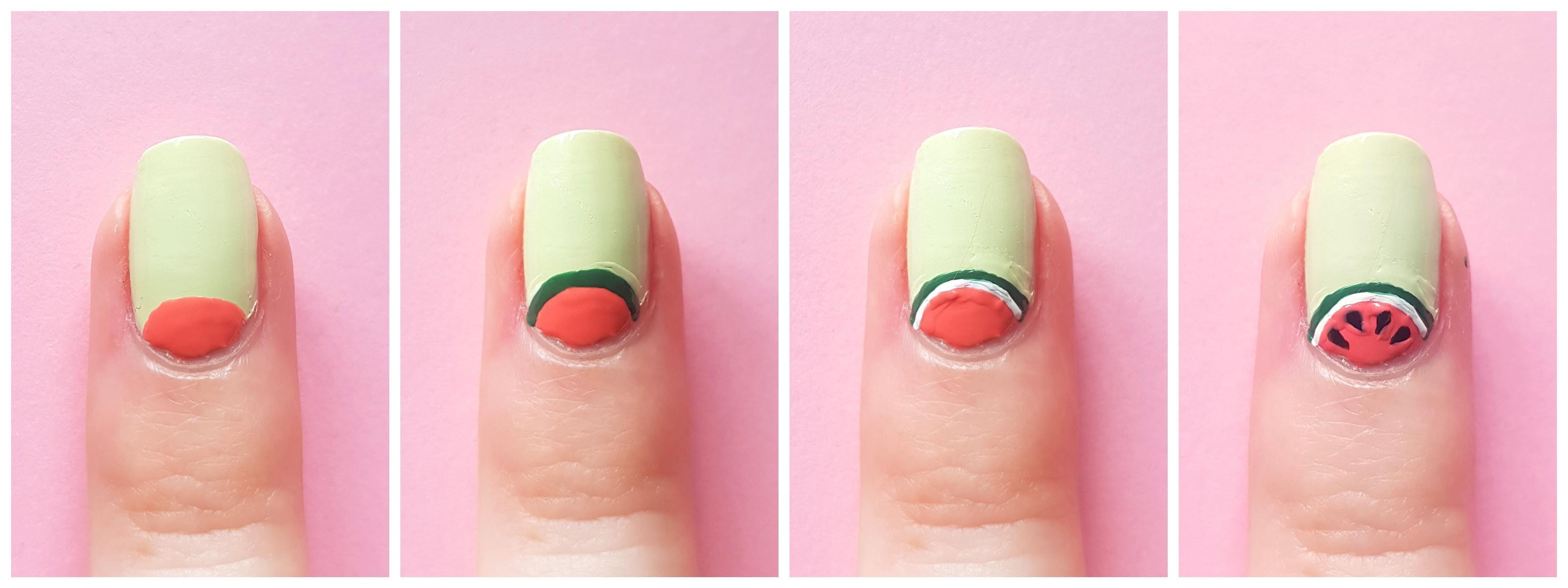 Nailart Tutorial Wassermelonen Nailart
