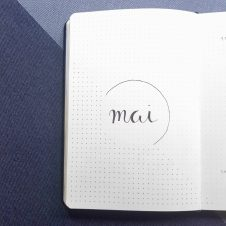 Minimalistisches Bullet Journal Mai 2019