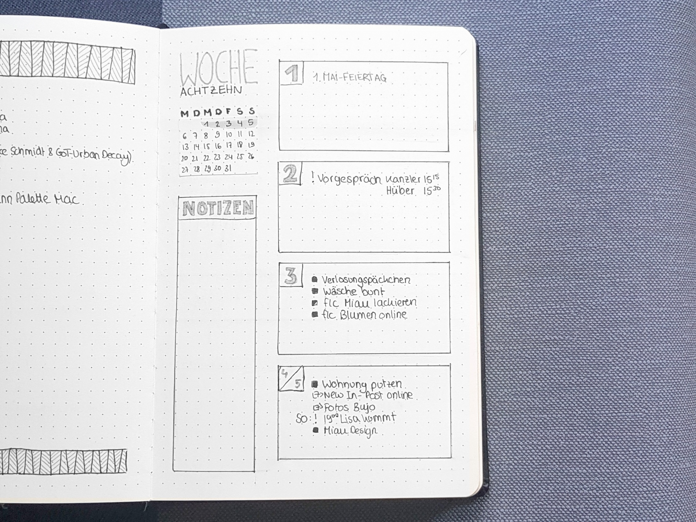 Bullet Journal Minimalistic Setup