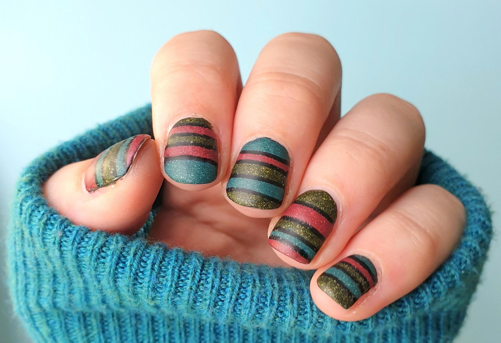 frischlackiertchallenge Colour Blocking Nailart