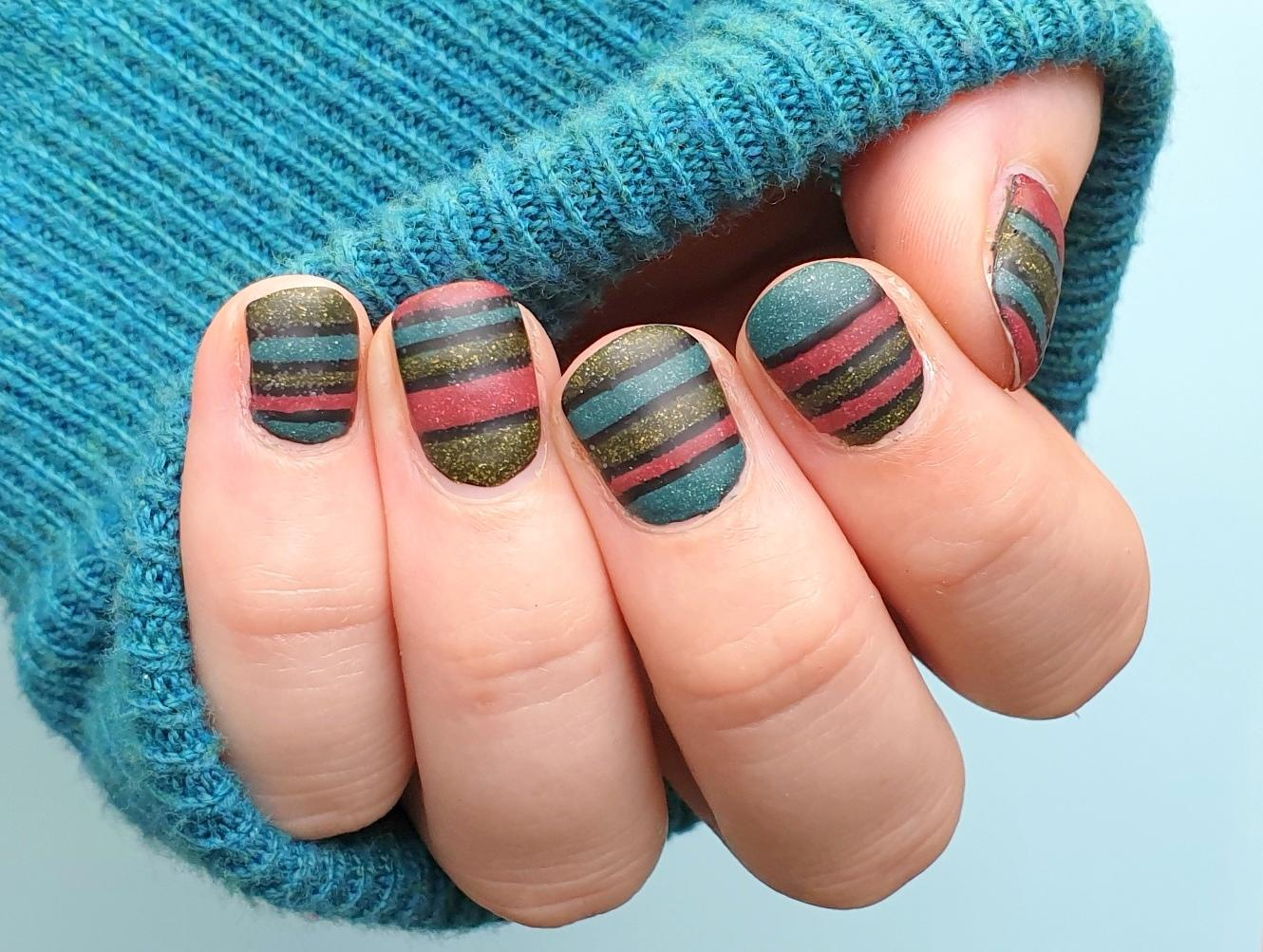 frischlackiertchallenge Color Blocking Nailart