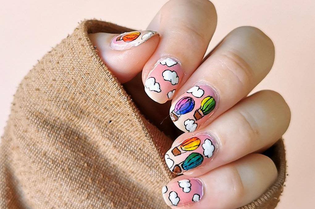 Hot Air Balloon Nailart
