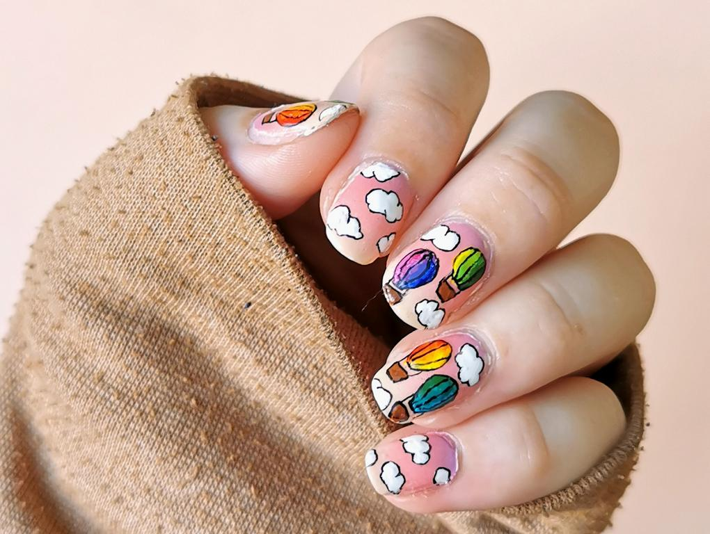 Hot Air Balloon Nails