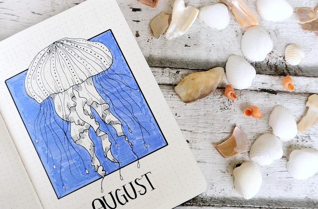 Bullet Journal August Jellyfish