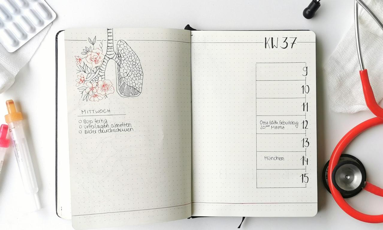 Bullet Journal Medizin Weekly Spread