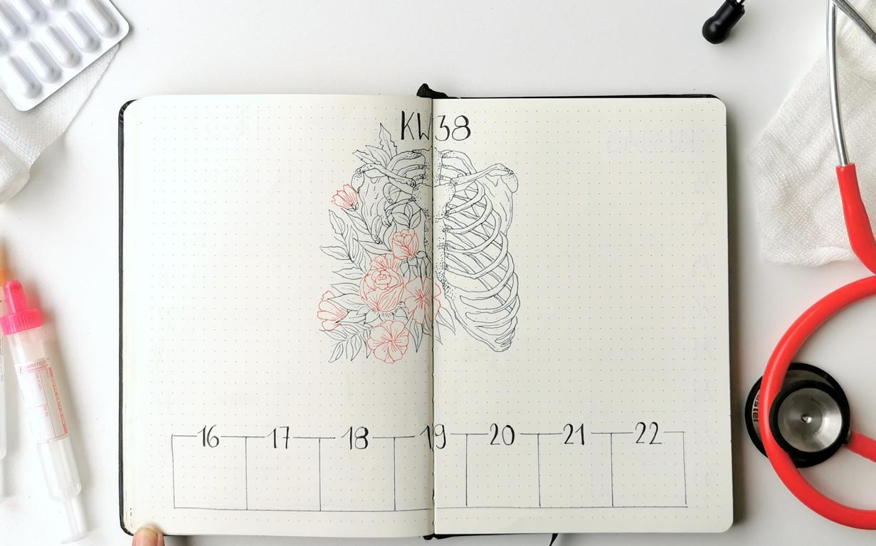 Bullet Journal Medicine Weekly Spread
