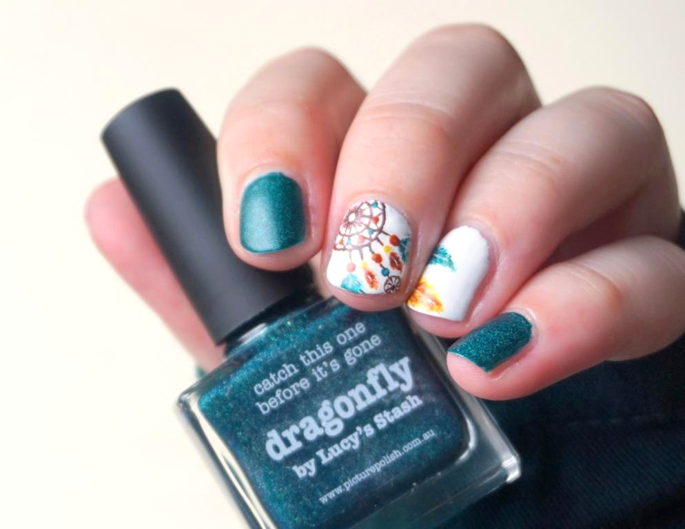 Traumfänger Nailart Picture Polish Dragonfly