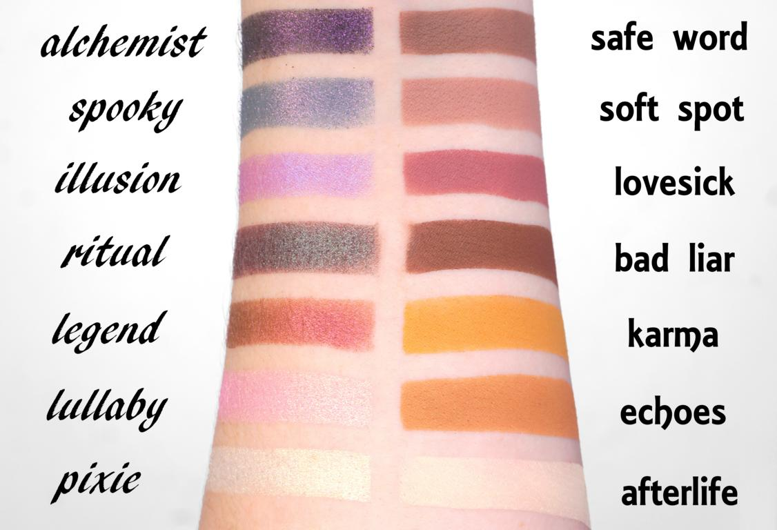 1991 Eyeshadow Palette Swatches