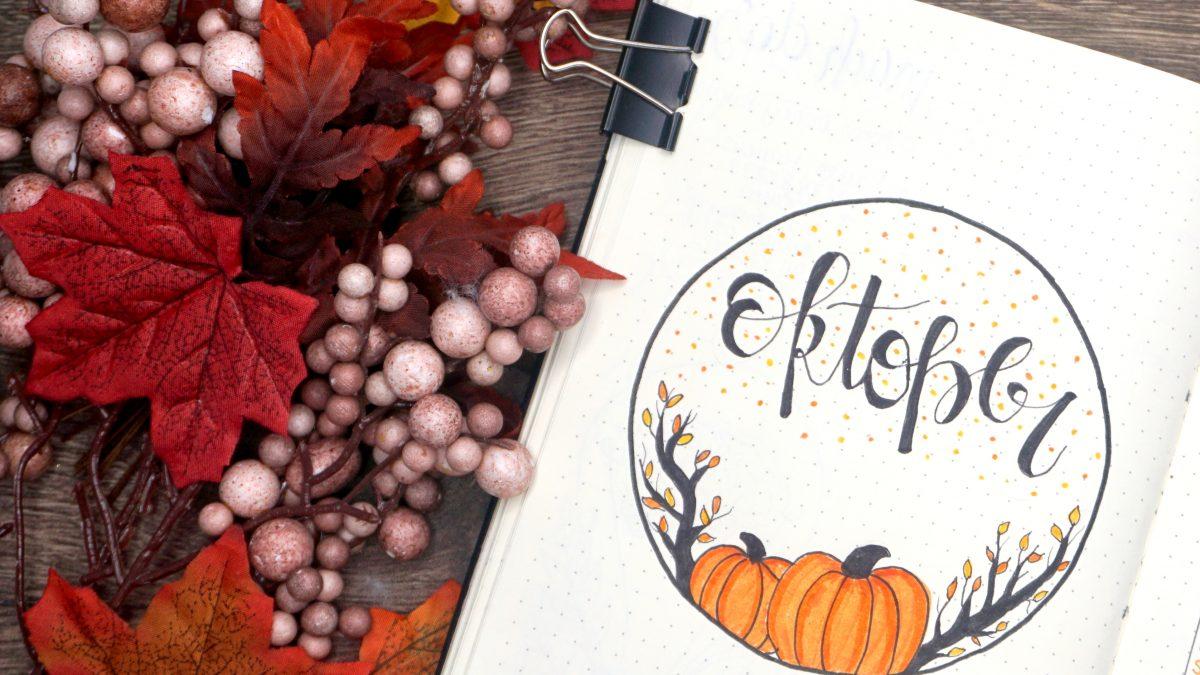 BuJo Kürbis Pumpkins Cover Page