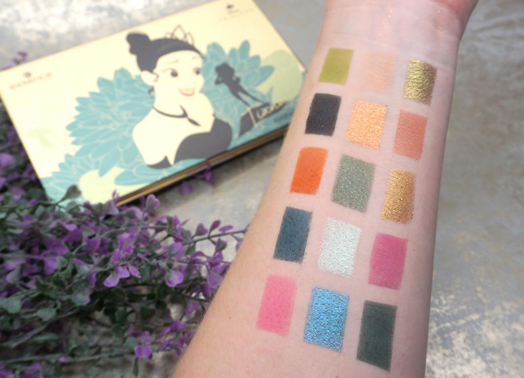 essence Disney Princess Eyeshadow Palettes Tiana Swatches