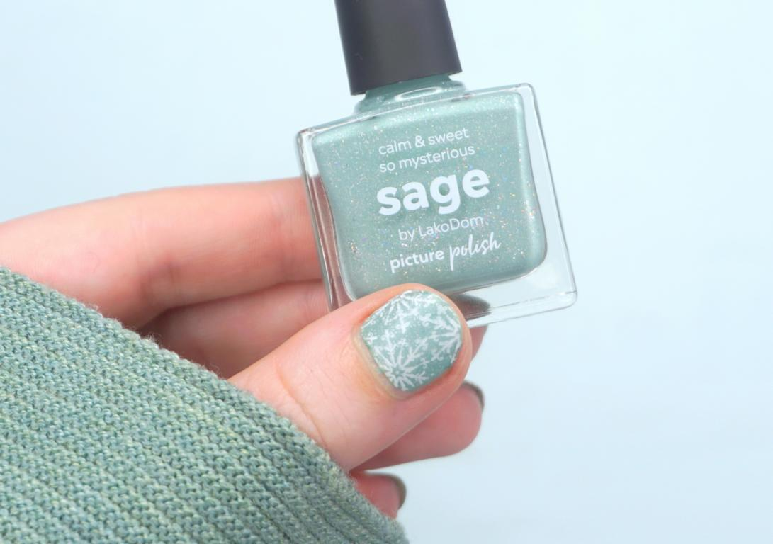 Snowflake Nails Picture Polish Sage