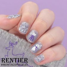 Rentier Nailart Reindeer Nails