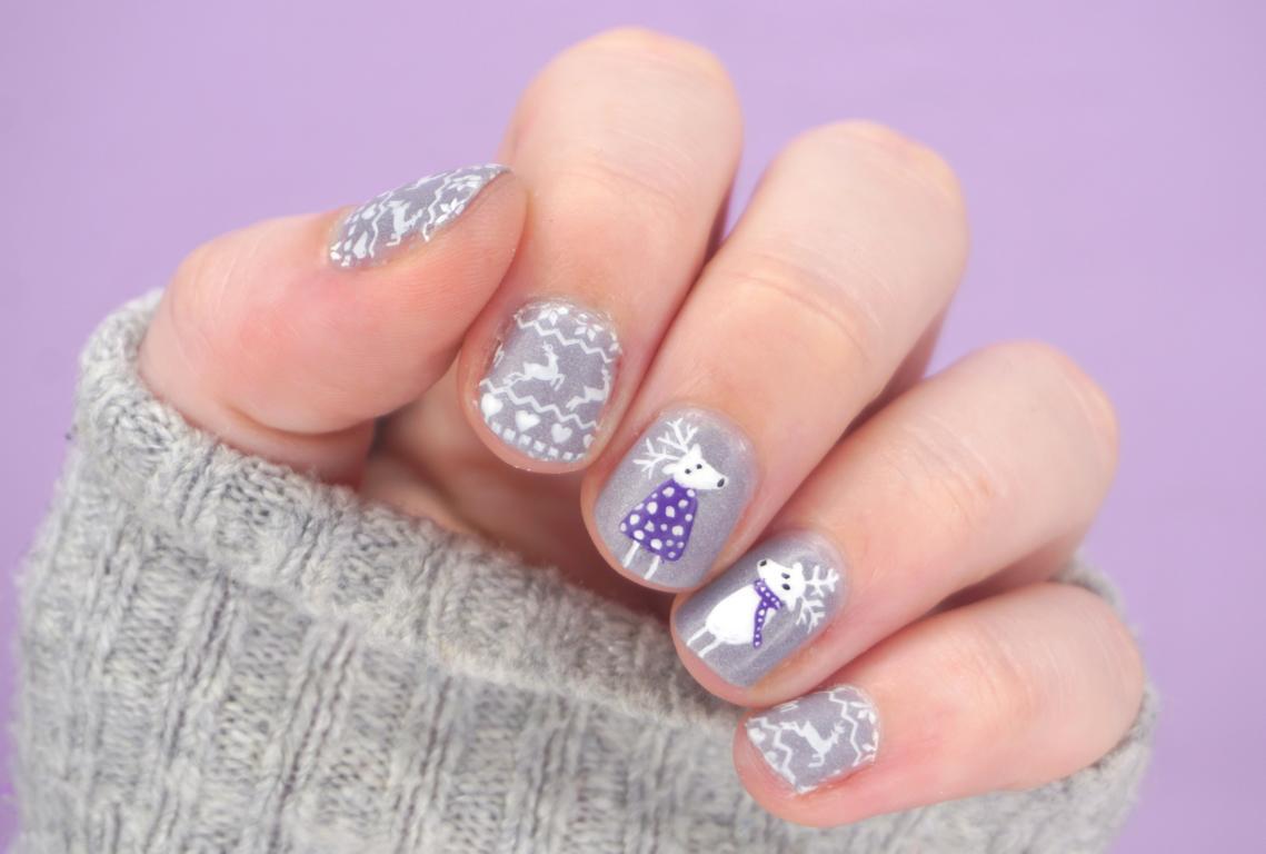 Rentier Nailart Reindeer Nails