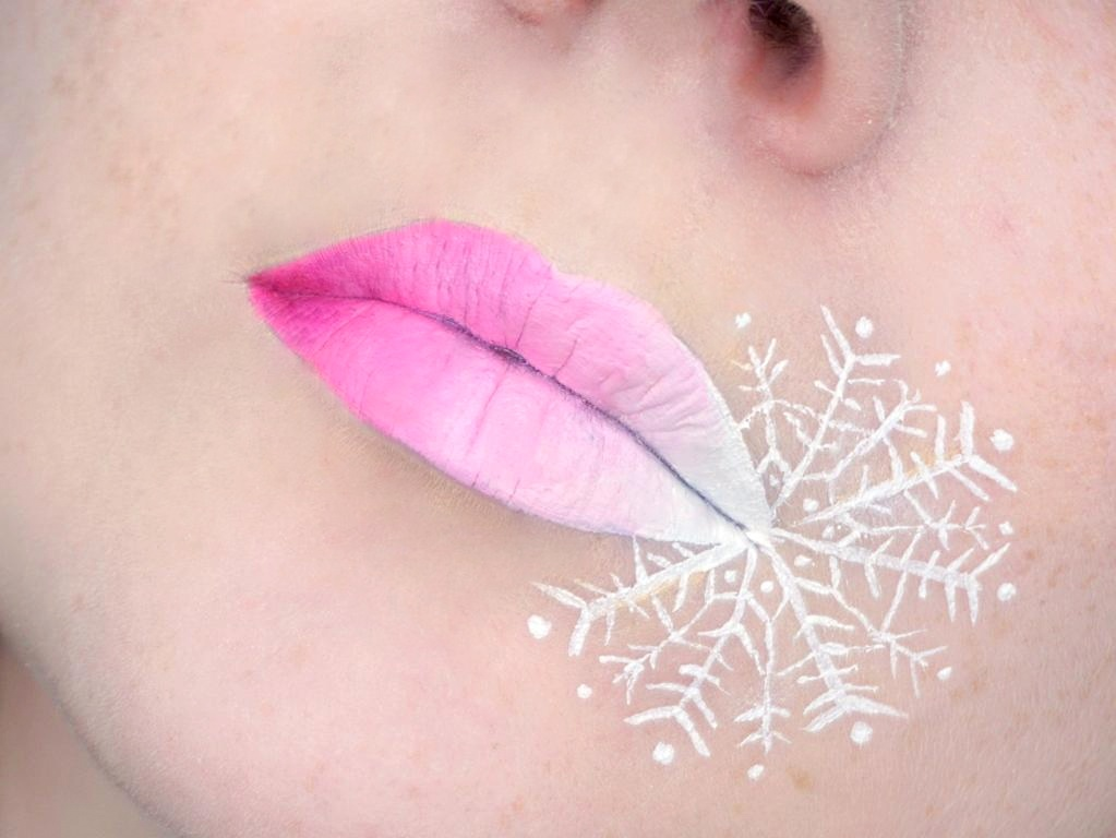 Pink Gradient Snowflake Lipart