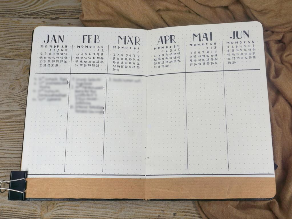 Bullet Journal Setup 2020 Future Log