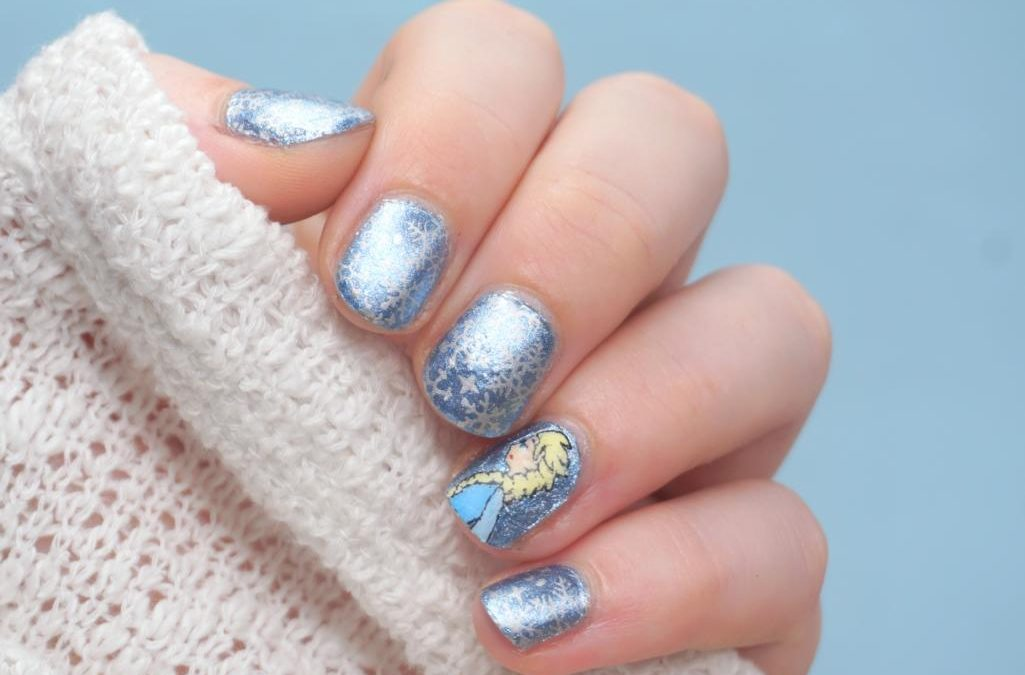 Disney Elsa Frozen Nailart