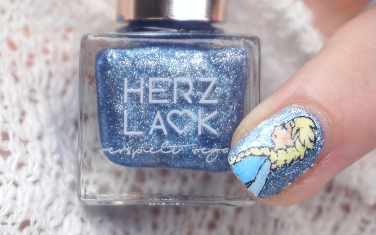 Herzlack Eiskönigin Disney Frozen Nailart