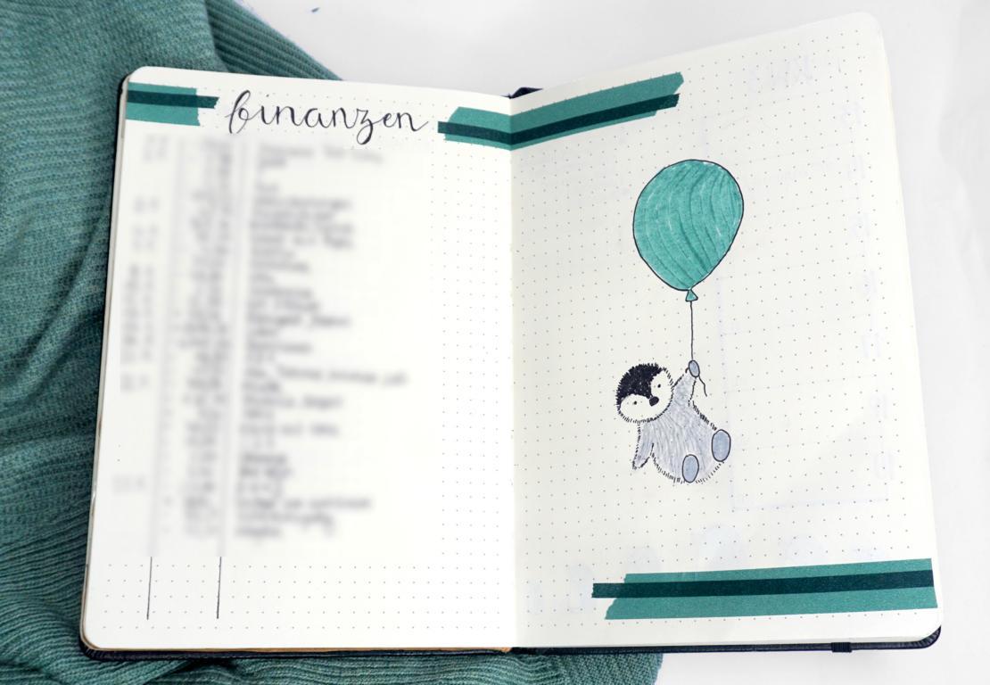 Januar Bullet Journal 2020 Pinguin Penguin