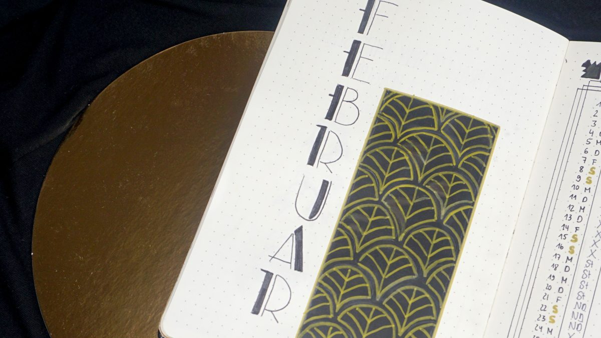Bullet Journal Februar Great Gatsby