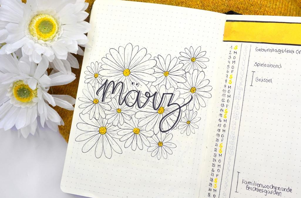 Bujo March 2020 Daisies
