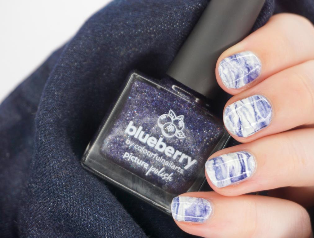Marbling Nailart Picture Polish Blueberry