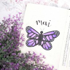 May Bujo 2020 Purple Butterfly