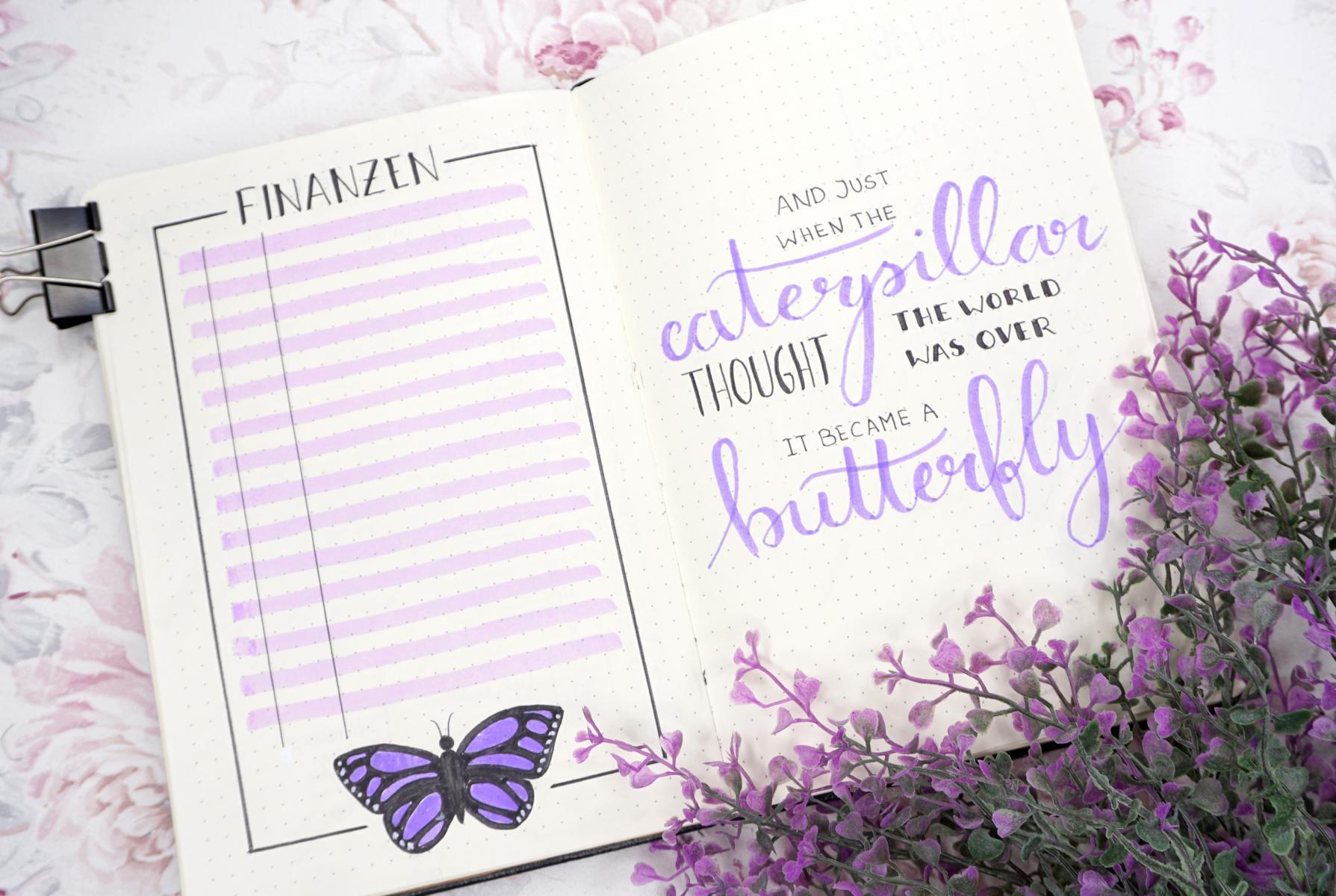 May Bujo 2020 Purple Butterfly