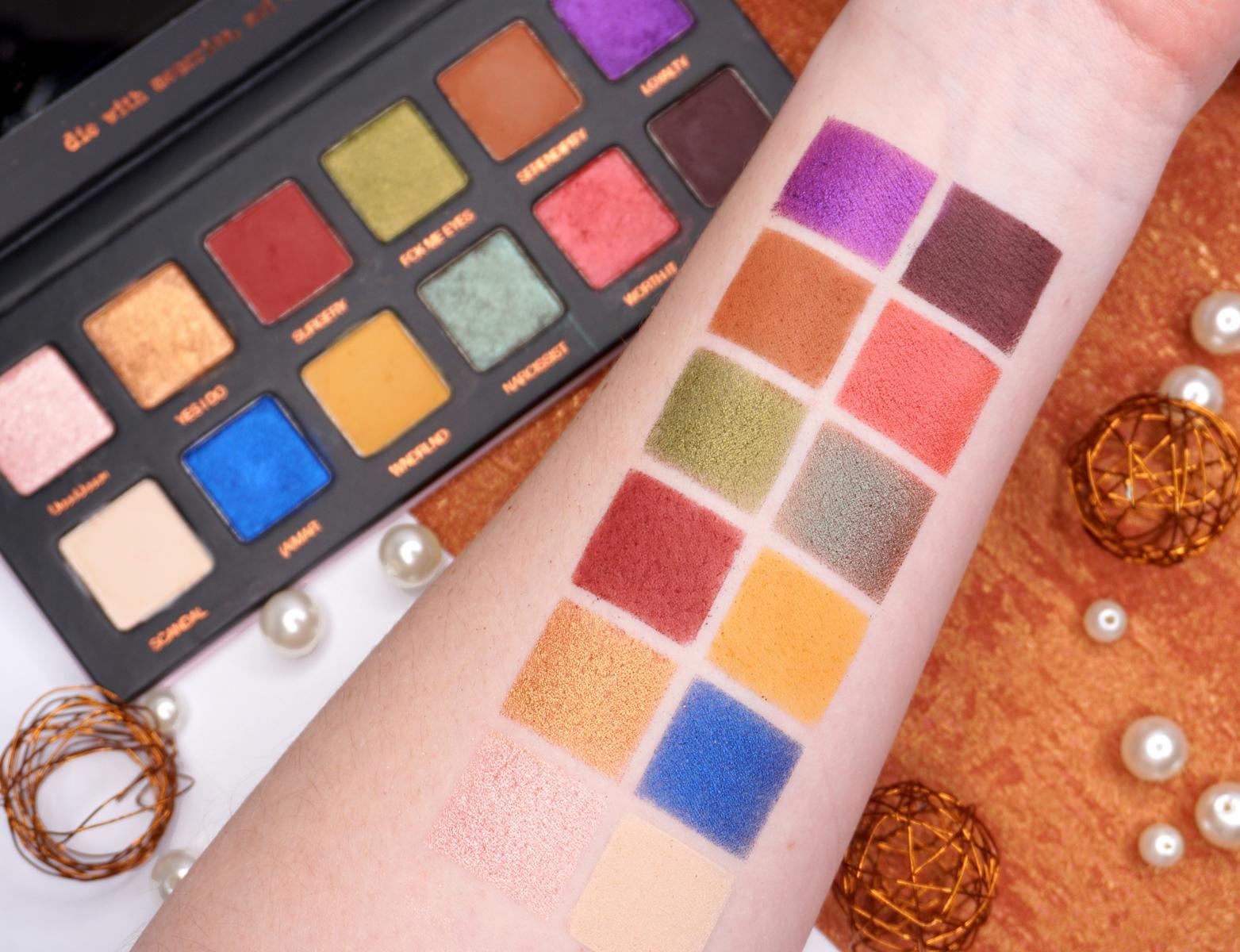 Jolina Eyeshadow Palette Swatches