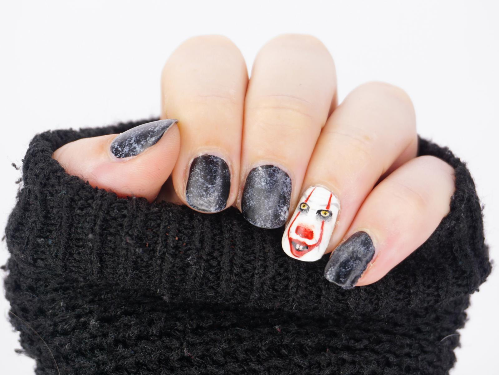 Montagspinselei Horrorfilm Es Pennywise It Nailart