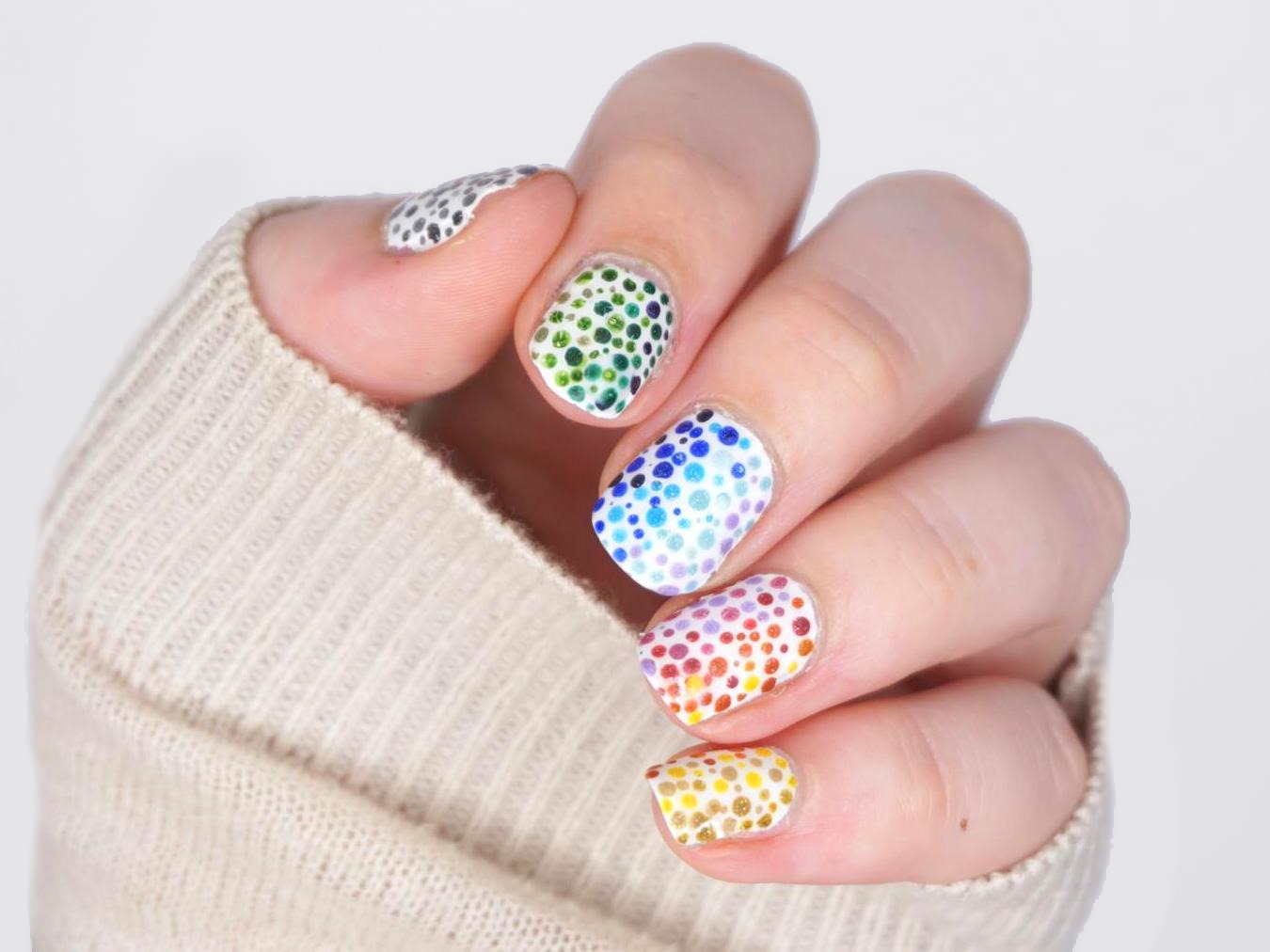 Montagspinselei Dotting Ombre Nails