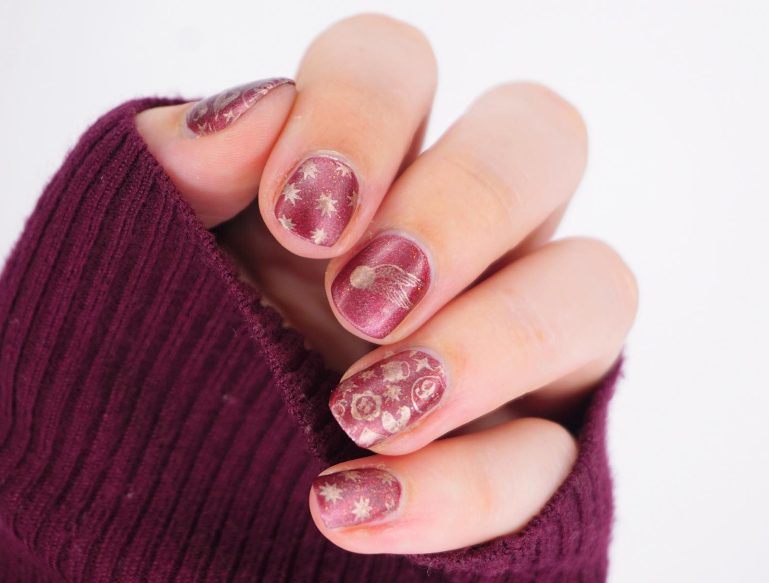 Montagspinselei Witchcraft Harry Potter Stamping Nailart