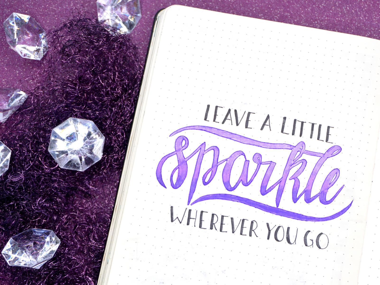 Bullet Journal Crystal Handlettering