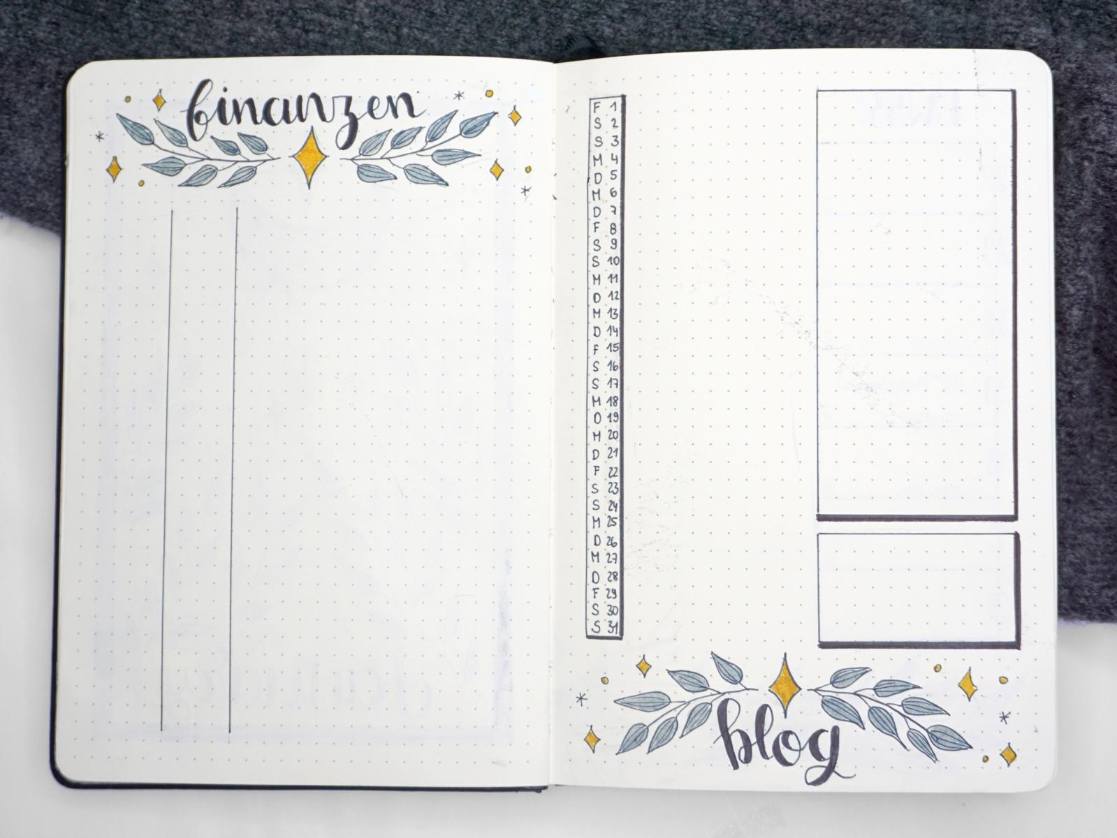 BUllet Journal Januar Setup