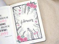 Bullet Journal Februar Setup Rosen